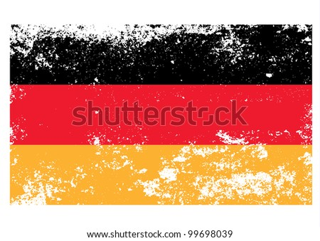 Germany flag in grunge. Vector.