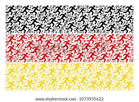 germany flag mosaic created of