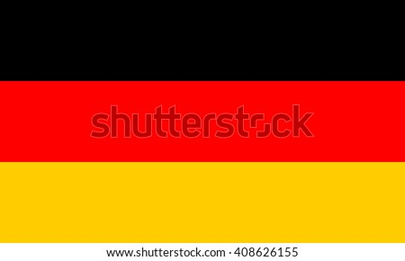 Germany flag, official colors and proportion correctly. National Germany flag. Vector illustration. EPS10. stock photo