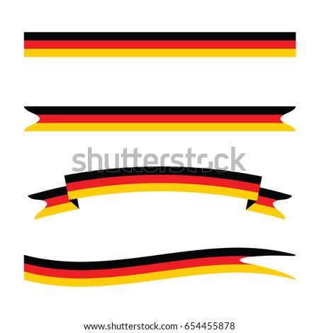 Germany Flag Ribbons. Vector.
