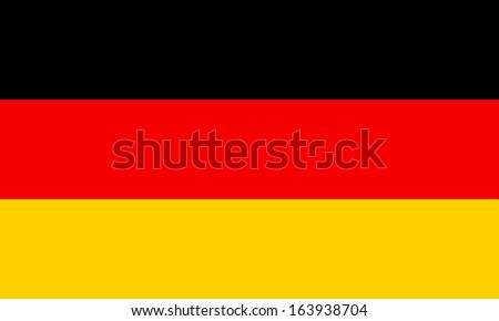 Germany flag. The colors and proportions of the original. Vector illustration.