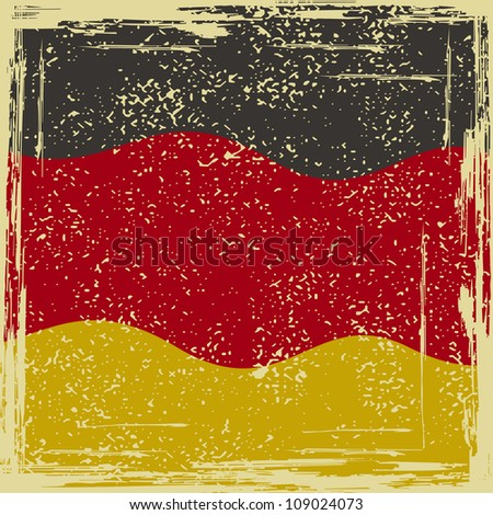 Germany grunge flag. Grunge effect can be cleaned easily.