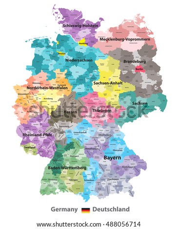 germany high detailed map