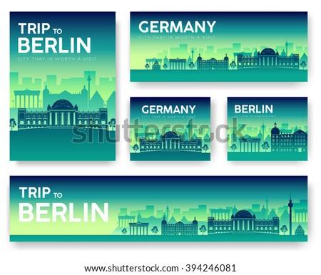 germany landscape vector banner