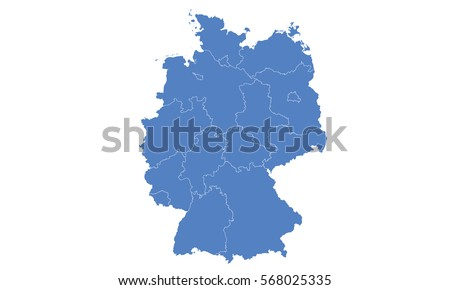 Free Germany Map Vector - Germany map vector