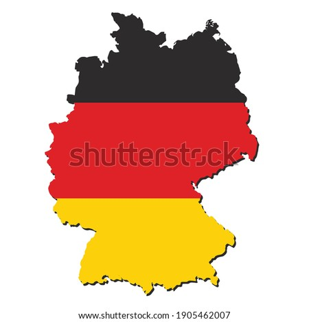 Germany map city  illustration vector geography flag silhouette sign background country graphic nation Foto d'archivio ©
