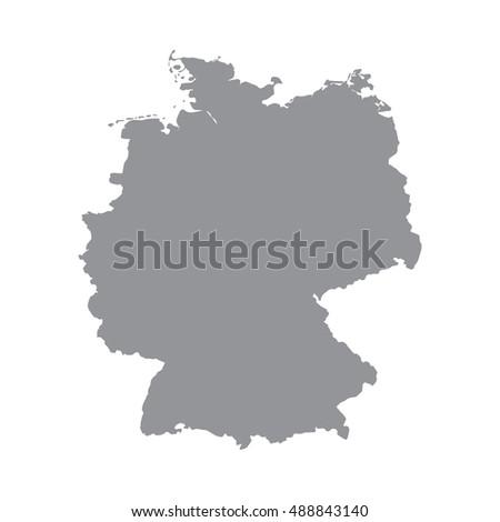 germany map gray germany map