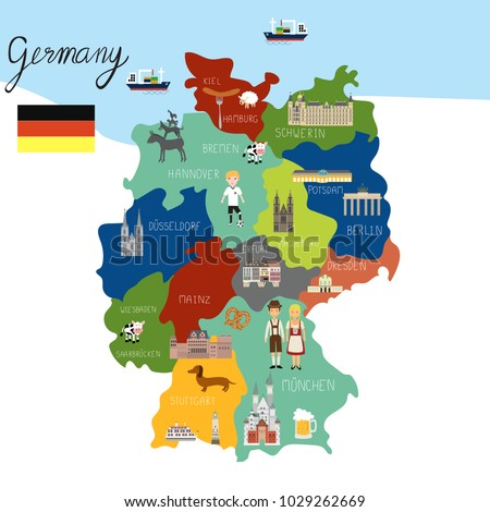 Germany map hand draw vector. illustration EPS10.