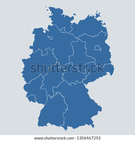 germany map on gray background