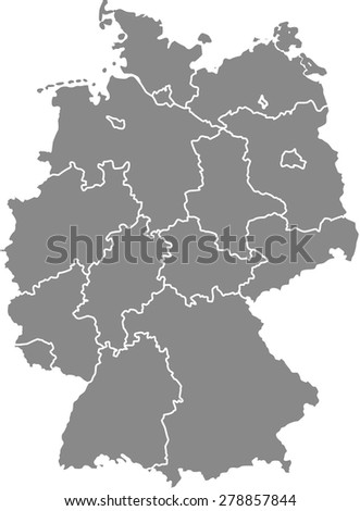 germany map outlines  vector