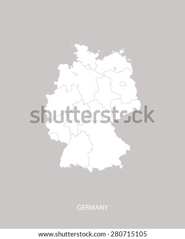 germany map outlines with