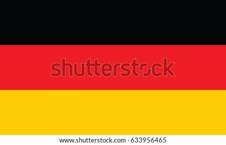 Germany National Flag. Vector.