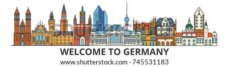germany outline skyline  german