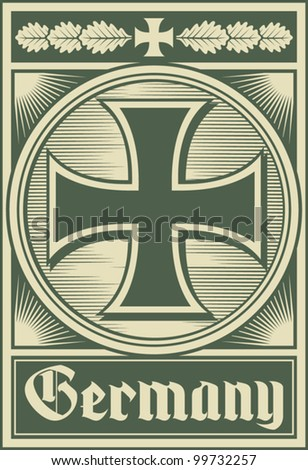 germany poster  iron cross