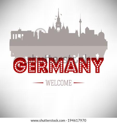 germany skyline silhouette