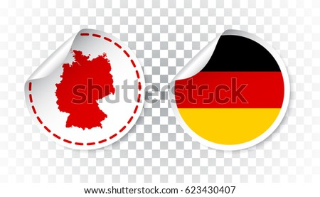 germany sticker with flag and