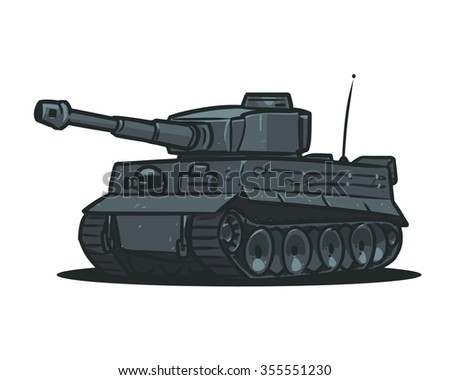 germany tiger tank cartoon
