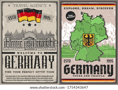 germany travel retro posters