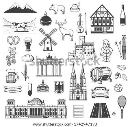 germany vector objects  symbols