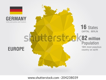 Free germany map vector germany world map with a pixel diamond pattern gumiabroncs Choice Image