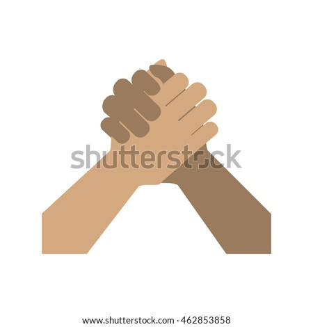 Gesture concept represented by human hand icon. Isolated and flat illustration