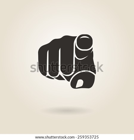 gesture pointing finger on a light background