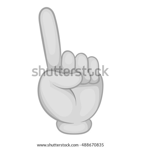 Gesture thumb up icon in black monochrome style isolated on white background. Gesticulation symbol vector illustration #488670835