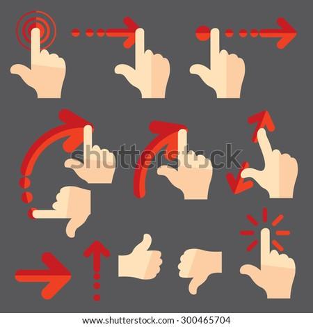 gesture touch swipe ux
