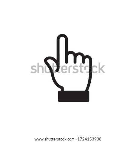 Gestures Of Human Hands, Pointing Towards The Top Icon In Trendy  Design Vector Eps 10