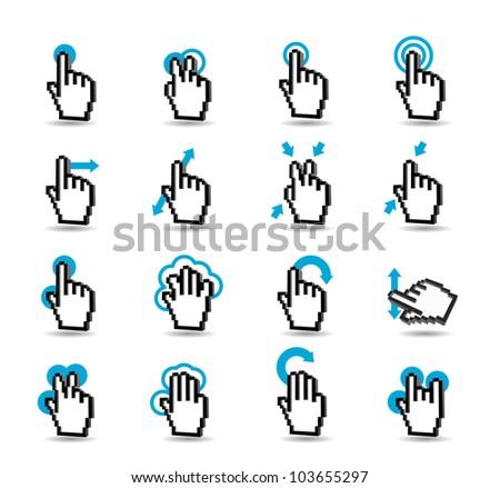 Gesturing icon set