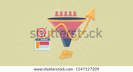 Get more leads, Lead generation strategy, Sales funnel optimization,  growth arrow conceptual vector animation