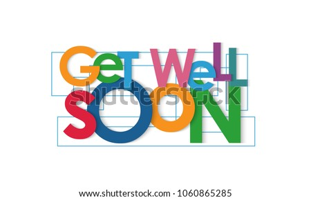 Get well soon vector letters