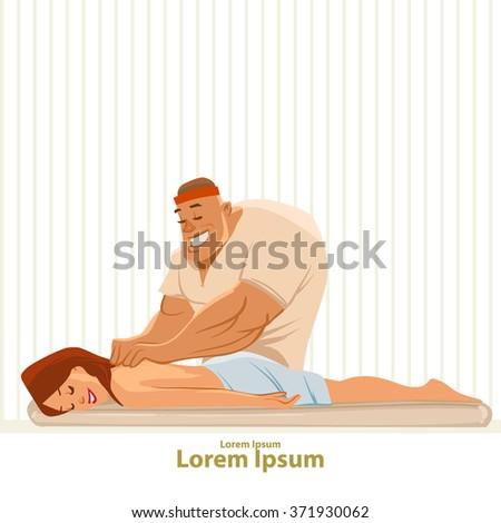 getting a massage  cartoon