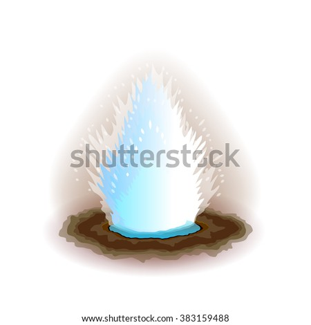 geyser isolated on white photo