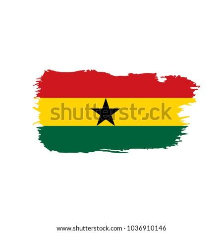 ghana flag  vector illustration