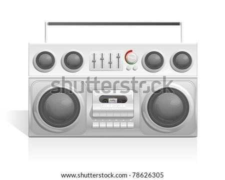 ghetto blaster audio cassette player icon