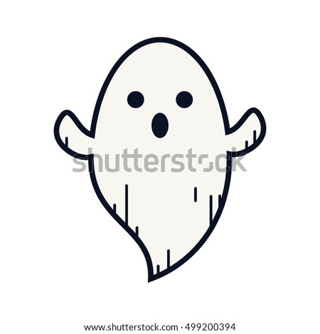 ghost colored doodle ghost