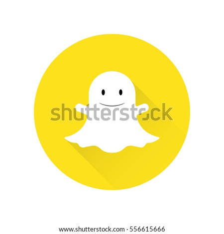 Ghost Flat Icon on the white background. Vector illustration.