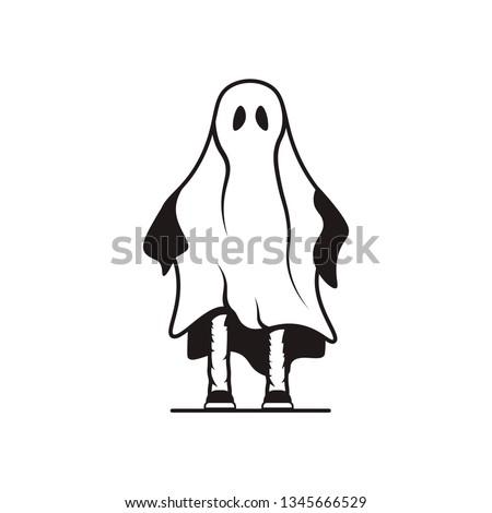 ghost halloween logo