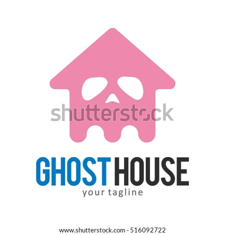 ghost house logo icon symbol