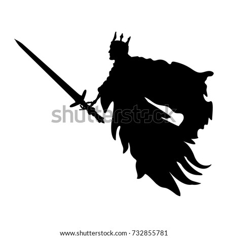 ghost king silhouette scary