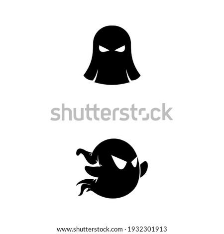 ghost logo design template eps