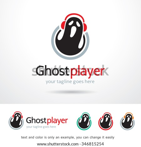 ghost player logo template