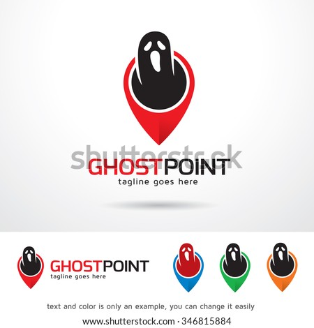 ghost point logo template
