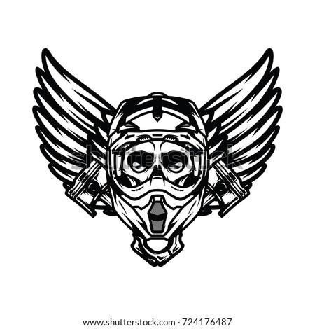 Ghost Rider Skull Road Biker Vector Mascot Illustration Ez Canvas