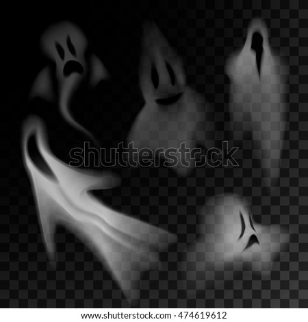 ghost silhouette isolated on