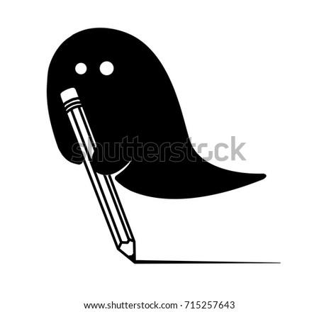 Ghost writer cartoon