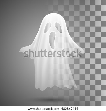 ghosts on transparent
