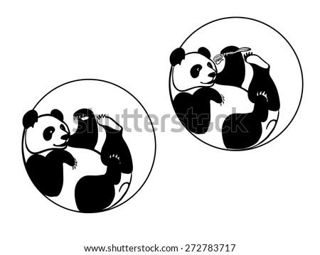 giant panda, panda with a toothbrush
