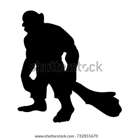 giant person silhouette monster